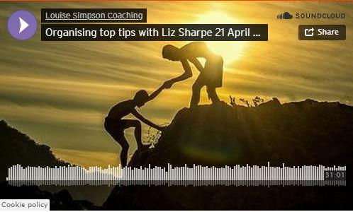 Organising top tips with Liz Sharpe 21 April 2020